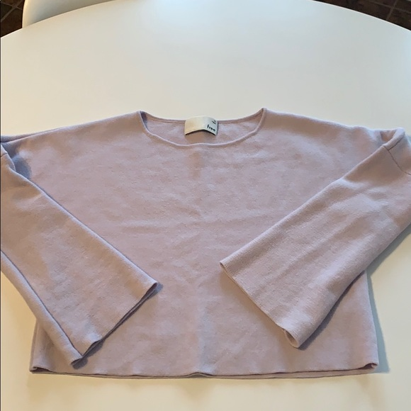 Aritzia Wilfred free cropped wool sweater